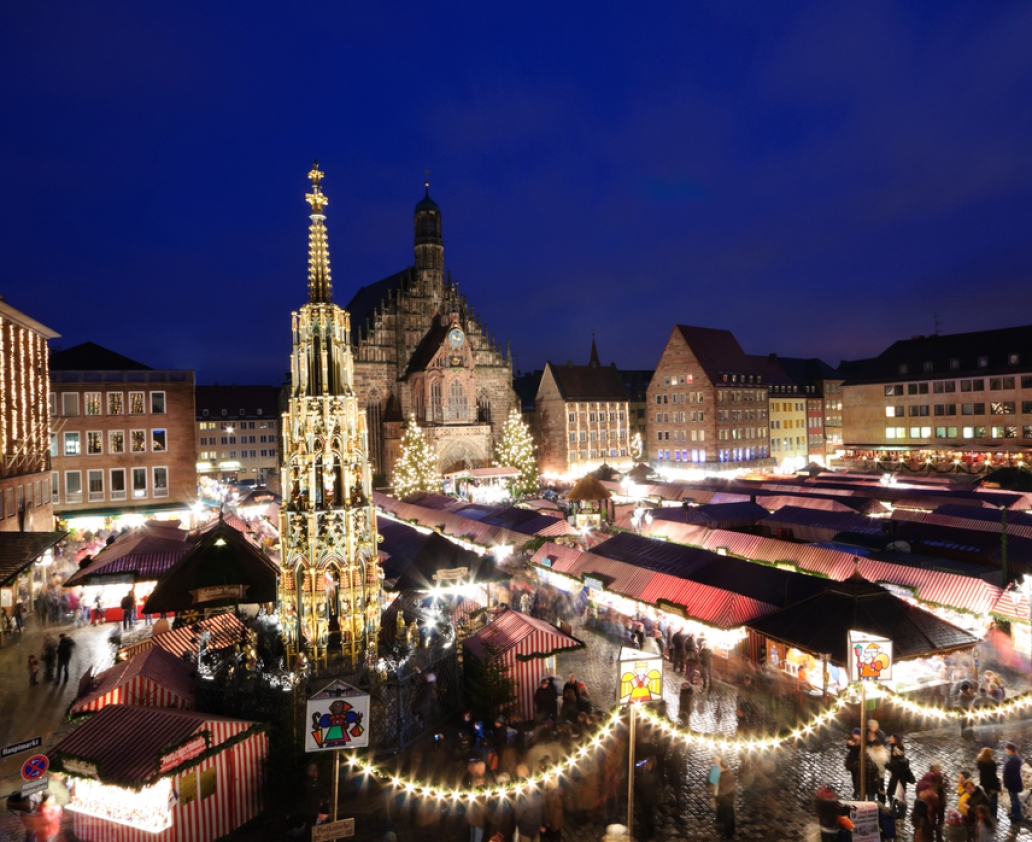 Christkindlesmarkt in Nuremberg, Germany. It is the most famous christmas market in the world.